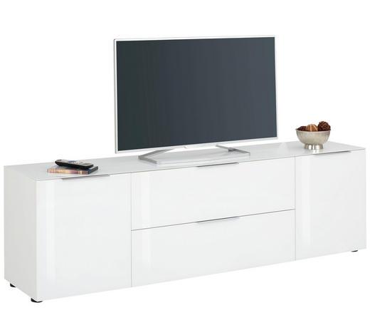 LOWBOARD 180,4/55/40 cm - Chromfarben/Schwarz, Design, Glas/Holzwerkstoff (180,4/55/40cm)