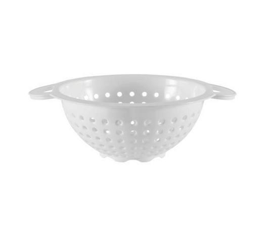KÜCHENSIEB - Weiß, Basics, Kunststoff (28cm) - Plast 1