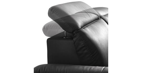 ZWEISITZER-SOFA in Leder, Metall, Textil Chromfarben, Dunkelgrau - Chromfarben/Dunkelgrau, Design, Leder/Textil (200/80/104cm) - Xora