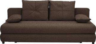SCHLAFSOFA in Braun Textil - Schwarz/Braun, Design, Kunststoff/Textil (208/73-90/102cm) - Hom`in