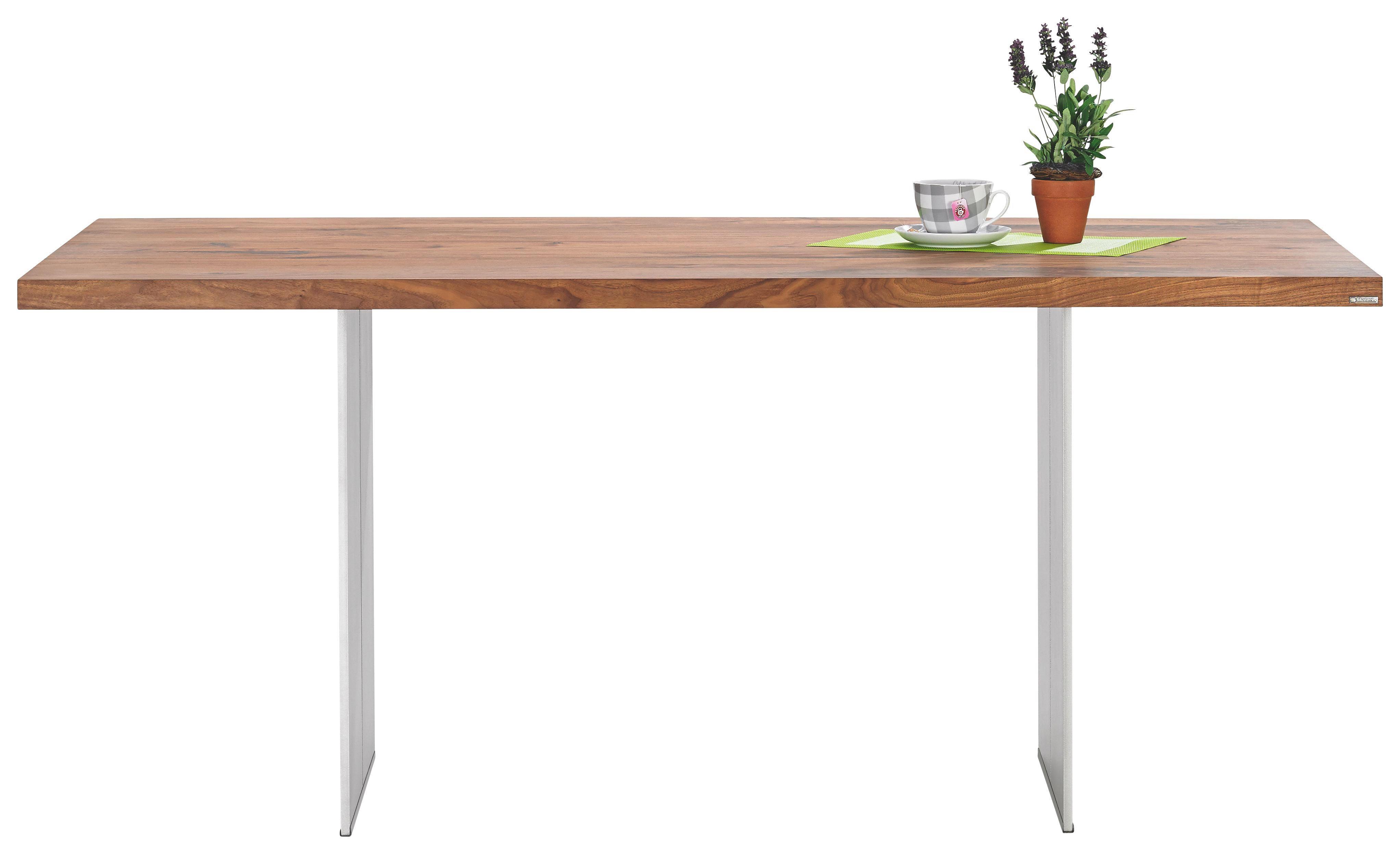 ESSTISCH Astnuss massiv rechteckig Nussbaumfarben - Nussbaumfarben, Design, Holz/Metall (180/77/100cm) - MUSTERRING