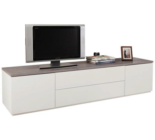 Lowboard in Grau, Weiß - Weiß/Grau, Design, Holzwerkstoff (200/45/45cm) - Carryhome