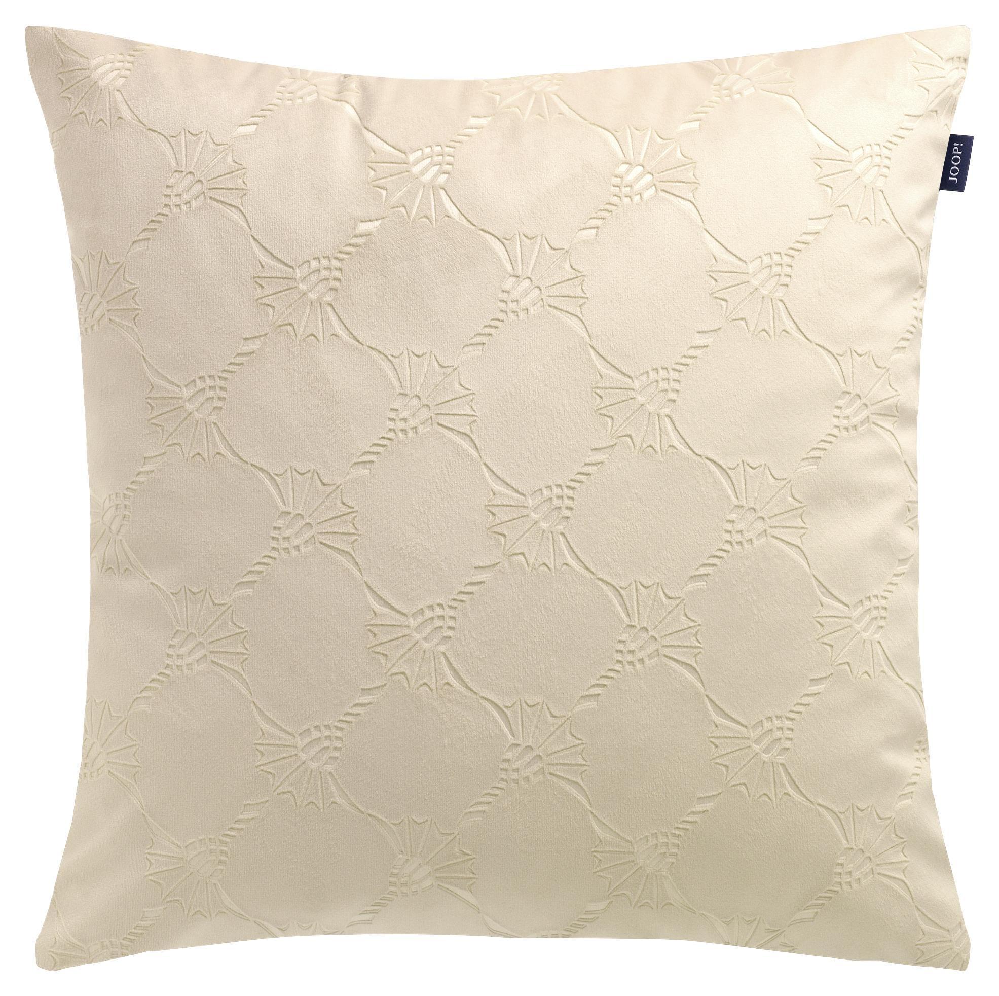 Sprügel Kissen Kissenhülle Raute elegant  beige taupe gold 40x40cm   60x60