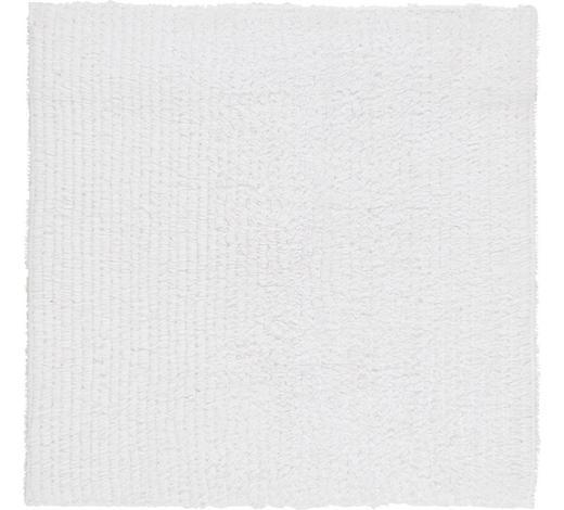 BADEMATTE in Weiß 60/60 cm  - Weiß, Natur, Textil (60/60cm) - Linea Natura