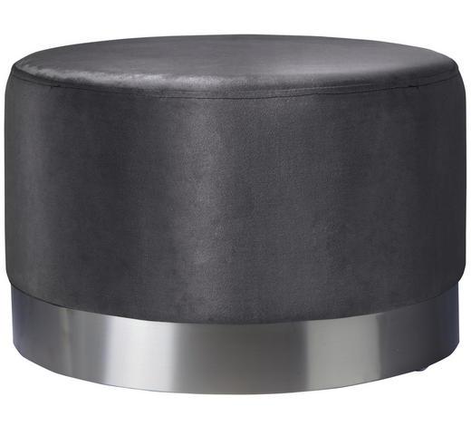 TABURET, šedá, barvy nerez oceli - šedá/barvy nerez oceli, Trend, kov/textil (55/55/35cm) - Xora