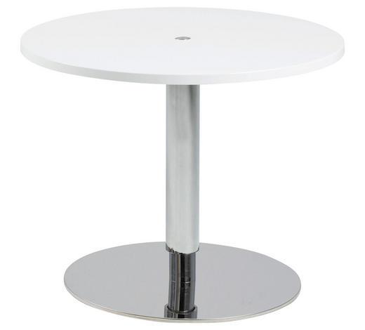 COUCHTISCH in Holzwerkstoff  60/40-60,5 cm - Edelstahlfarben/Weiß, Design, Holzwerkstoff/Metall (60/40-60,5cm) - Carryhome