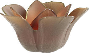 VÄRMELJUSHÅLLARE - brun, Trend, glas (13/6cm) - Ambia Home