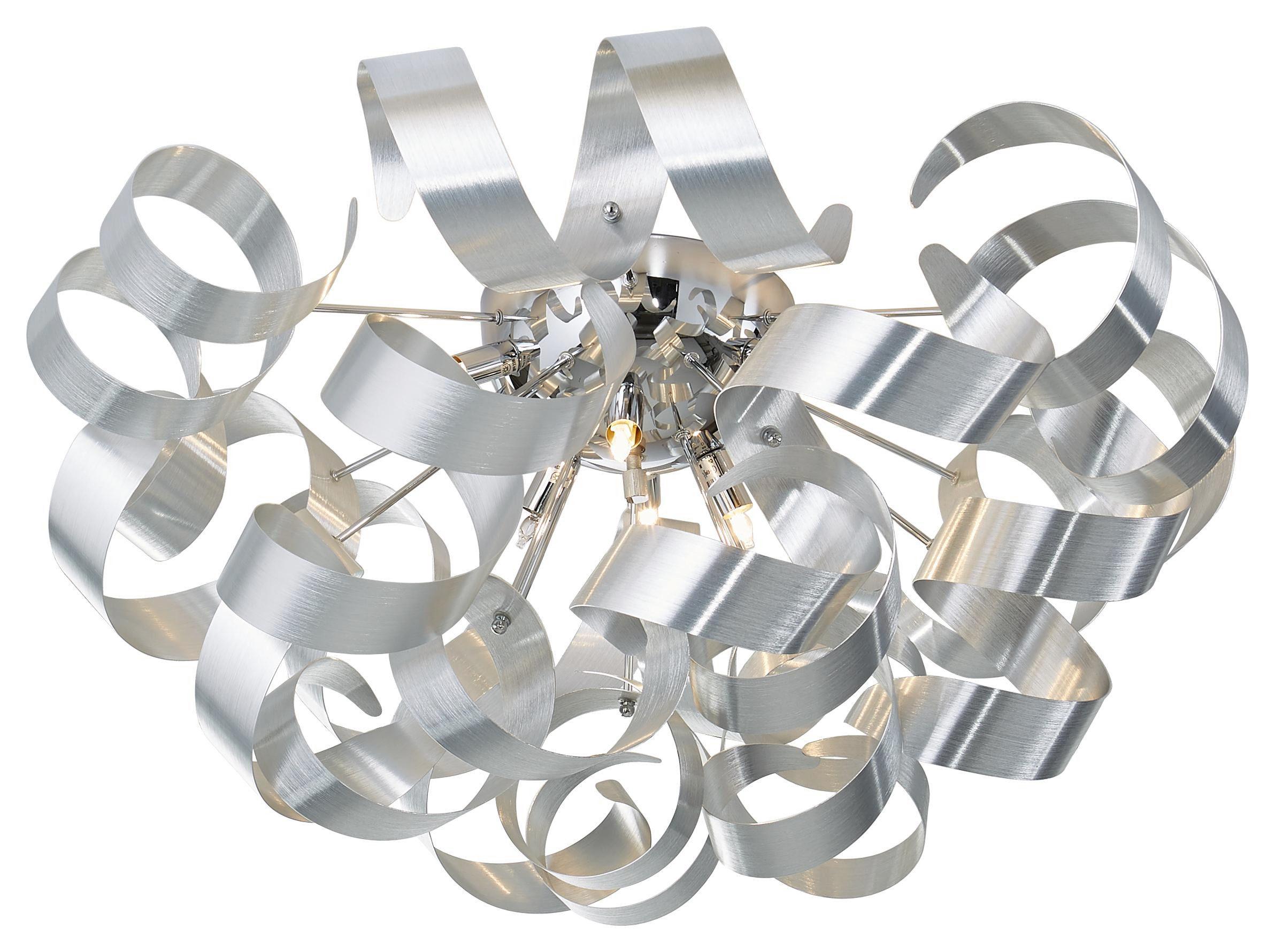 LED-TAKLAMPA - alufärgad, Design, metall (70/40cm) - Ambiente
