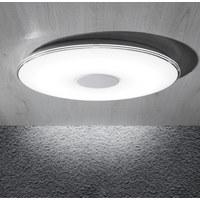 LED-DECKENLEUCHTE - Weiß, Design, Kunststoff (60cm) - AMBIENTE