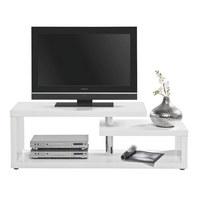 HI-FI STOLIĆ - bijela/boje aluminija, Design, drvni materijal/plastika (130/45/40cm) - Xora