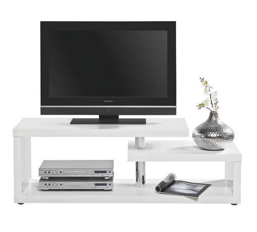 HI-FI STOLIĆ bijela   - bijela/boje aluminija, Design, drvni materijal/plastika (130/45/40cm) - Xora