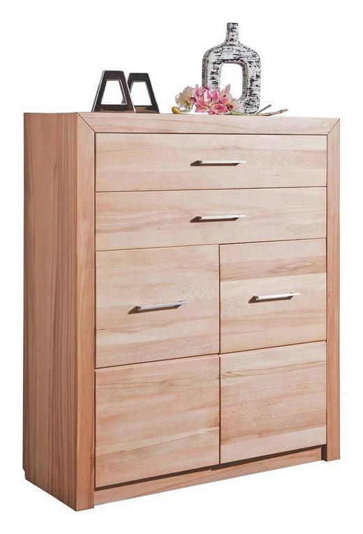 HIGHBOARD 100/120/41 cm - Buchefarben/Alufarben, KONVENTIONELL, Holz/Holzwerkstoff (100/120/41cm) - Linea Natura