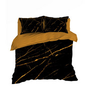 POSTELJINA - žuta/crna, Konvencionalno, tekstil (200/200cm) - Novel