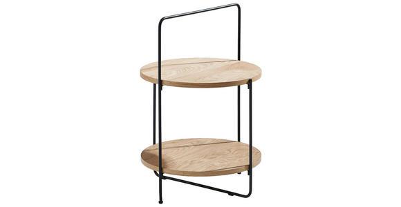 BEISTELLTISCH in Holz, Metall, Holzwerkstoff  - Eichefarben/Schwarz, Design, Holz/Holzwerkstoff (45/68/45cm) - Xora