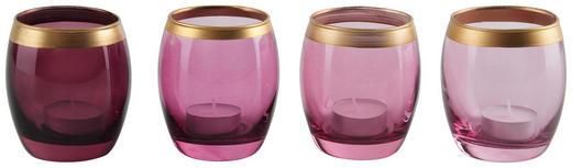 WINDLICHT - Violett, LIFESTYLE, Glas (8/9cm)