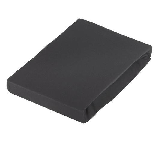 SPANNBETTTUCH Jersey Schwarz bügelfrei - Schwarz, Basics, Textil (100/200cm) - Novel