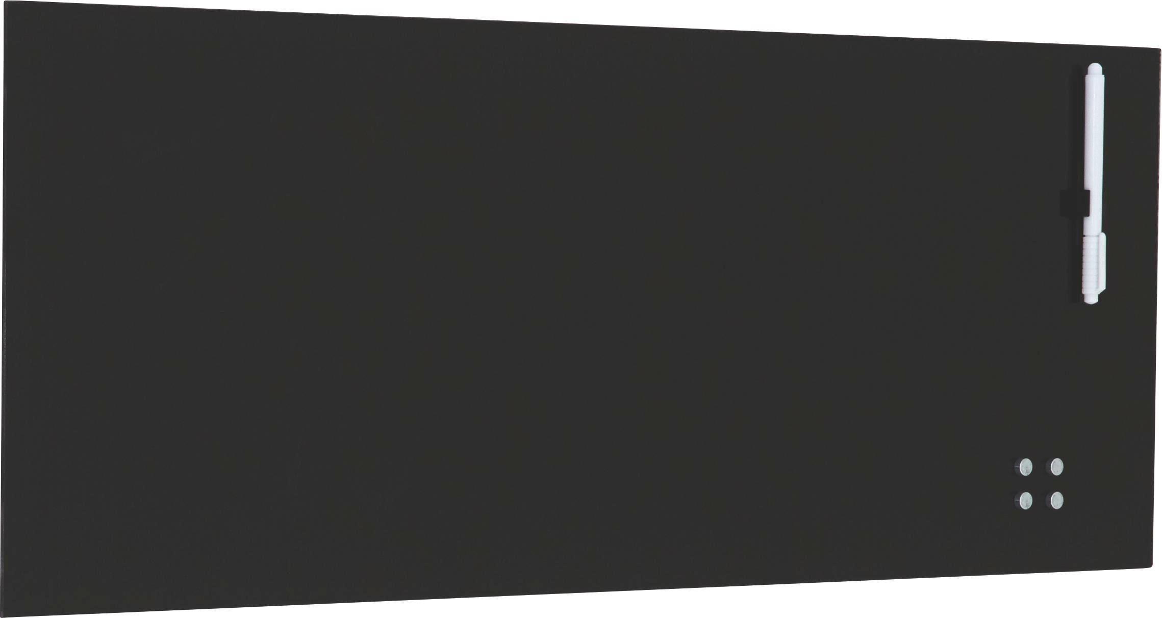 MEMOBOARD - svart, Basics, metall/glas (30/80cm) - EUROGRAPHICS
