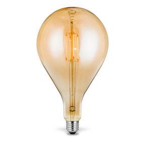 LED - bärnstensfärgad, Trend, metall/glas (16/29cm)