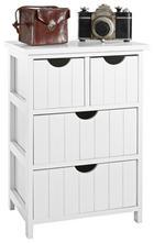 KOMMODE in mehrschichtige Massivholzplatte (Tischlerplatte), teilmassiv Paulownia Weiß - Weiß, Design, Holz/Holzwerkstoff (40/57/29cm) - CARRYHOME