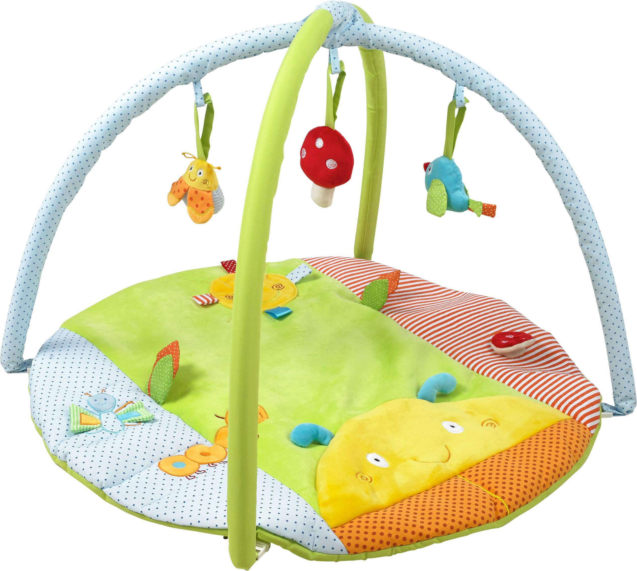 3in1 Krabbeldecke Spieldecke Spielbogen Spielmatte Erlebnisdecke Musik Baby Gym GläNzende OberfläChe Krabbeldecken Baby
