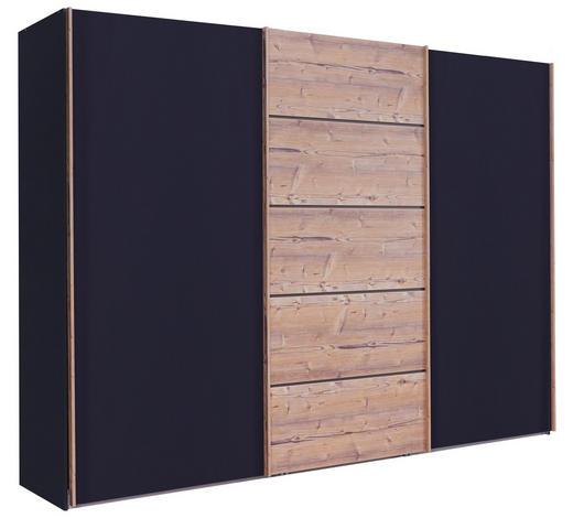 SKŘÍŇ S POSUVNÝMI DVEŘMI, hnědá, barvy grafitu - barvy grafitu/hnědá, Konvenční, kompozitní dřevo/sklo (250/217/67cm) - Novel