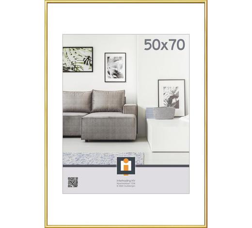 RÁM NA OBRAZY, barvy zlata - barvy zlata, Basics, umělá hmota/sklo (51/71cm)
