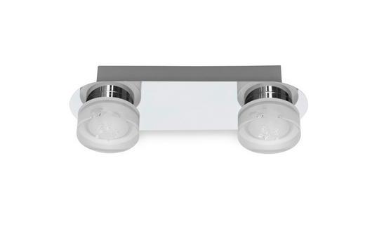 BADEZIMMER-WANDLEUCHTE - Chromfarben, Design, Kunststoff/Metall (30/10/8,5cm) - Celina