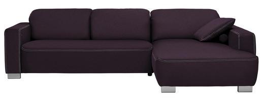 WOHNLANDSCHAFT in Textil Violett - Chromfarben/Violett, Design, Holz/Textil (296/195cm) - Hom`in