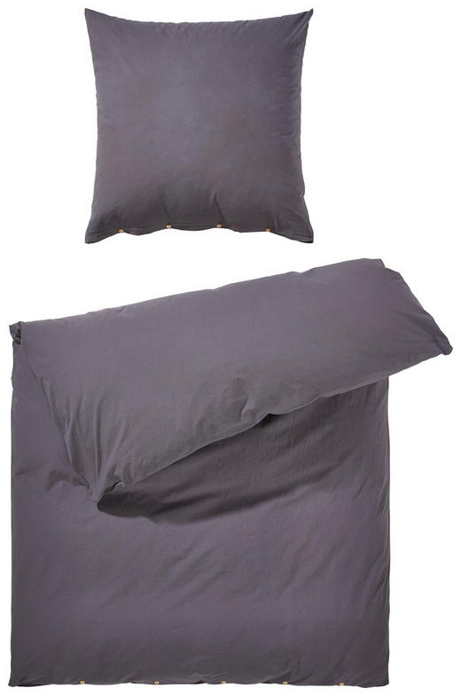 BETTWÄSCHE Renforcé Anthrazit 135/200 cm - Anthrazit, KONVENTIONELL, Textil (135/200cm) - Bio:Vio