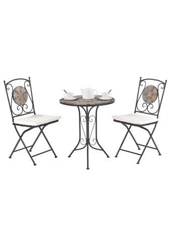 SET ZA BALKON  - črna, Konvencionalno, kovina/keramika (60/36/70/91/61/35cm) - Ambia Garden