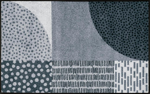 FUßMATTE 75/120 cm Graphik Grau, Hellgrau - Hellgrau/Grau, Basics, Kunststoff/Textil (75/120cm) - Esposa