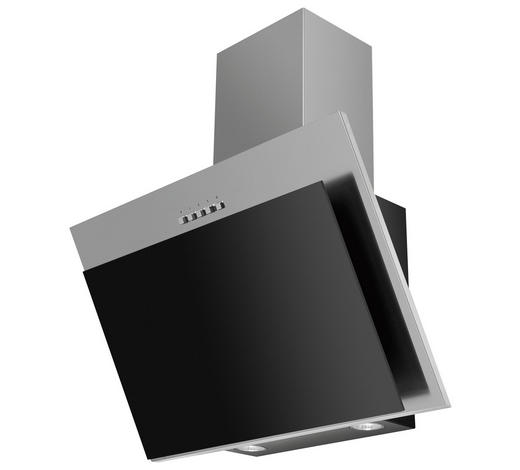 Dunstabzugshaube 60250 - Edelstahlfarben/Schwarz, Basics, Metall (60/95,5-133/31cm) - Mican