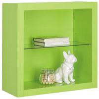 HYLLA - ljusgrön, Design, glas/träbaserade material (60/60/26cm)