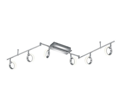 LED-DECKENLEUCHTE - Chromfarben/Weiß, MODERN, Kunststoff/Metall (150/14/11cm)