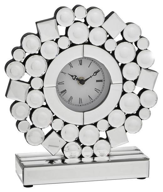 TISCHUHR  Silberfarben - Silberfarben, Design, Glas (25/28/8cm) - Xora
