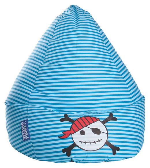 SITZSACK Flachgewebe Blau, Hellblau - Blau/Hellblau, Design, Textil (70/60cm) - Carryhome
