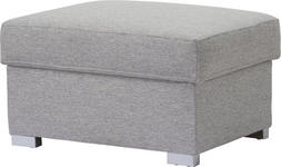 HOCKER Grau - Chromfarben/Grau, Design, Textil (60/80/45cm) - Novel