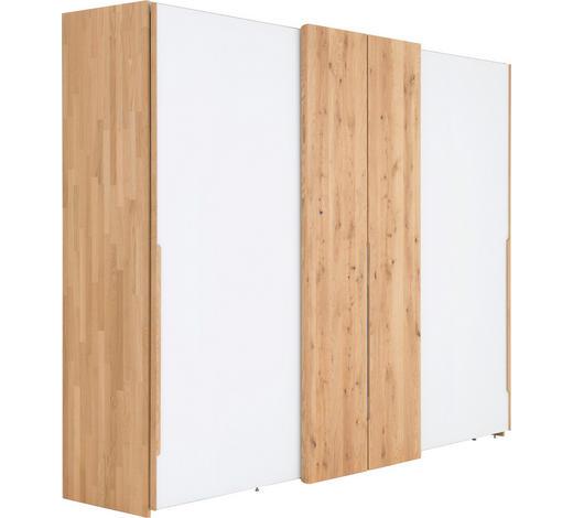 Schwebeturenschrank In Massiv Mehrschichtige Massivholzplatte Tischlerplatte Eiche Weiss Eichefarben