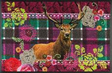 FUßMATTE 50/75 cm Graphik Multicolor, Violett  - Violett/Multicolor, Basics, Kunststoff/Textil (50/75cm) - Esposa