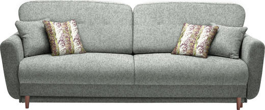 DREISITZER-SOFA in Textil Grau - Grau, Design, Holz/Textil (235/87/98cm) - Hom`in