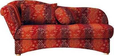 RECAMIERE Webstoff Rot - Rot/Buchefarben, KONVENTIONELL, Holz/Textil (190/85/85cm) - NOVEL