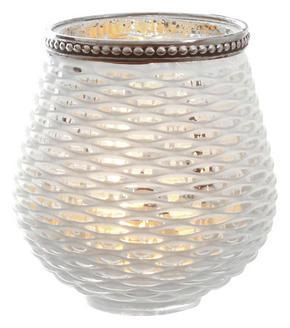 LJUSLYKTA - vit/silver, Klassisk, glas (9,5/10cm) - X-Mas