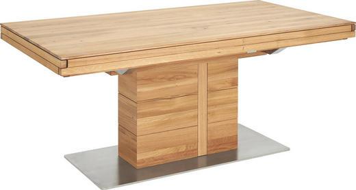 ESSTISCH in Holz, Metall 180(260)/95/76 cm - Eichefarben, Design, Holz/Metall (180(260)/95/76cm) - Cassando