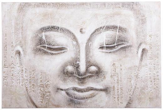 Buddha ÖLGEMÄLDE - Multicolor, LIFESTYLE, Holz/Textil (100/150cm)