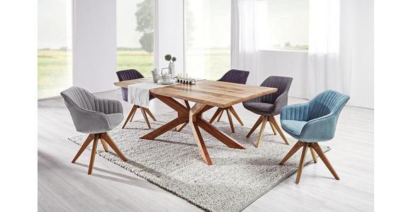 ARMLEHNSTUHL in Braun  - Eichefarben/Braun, Design, Holz/Textil (60/83/65cm) - Hom`in
