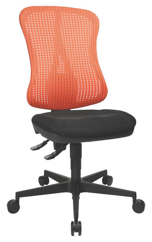 DREHSTUHL Rot, Schwarz - Rot/Schwarz, Design, Kunststoff/Textil (80/48/60cm)