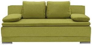 SCHLAFSOFA in Textil Grün  - Chromfarben/Grün, MODERN, Kunststoff/Textil (200/100/97,5cm) - Carryhome