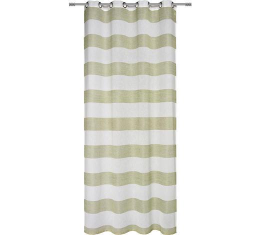 ÖSENSCHAL  transparent   140/245 cm  - Grün, Basics, Textil (140/245cm) - Esposa