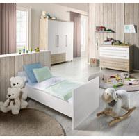 Babyregal Lennox - Eichefarben/Weiß, KONVENTIONELL, Holzwerkstoff (48,4/154,3/39,9cm) - Paidi