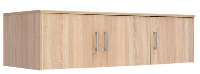 AUFSATZSCHRANK - Silberfarben/Sonoma Eiche, KONVENTIONELL, Holzwerkstoff/Kunststoff (157/43/54cm) - Xora